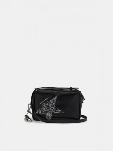 Black Star Bag made of patent leather with Swarovski star
