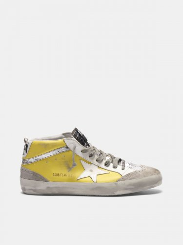 Mid Star sneakers in leather with crackle details
