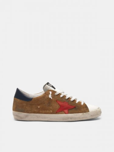 Super-Star sneakers in suede with a red star