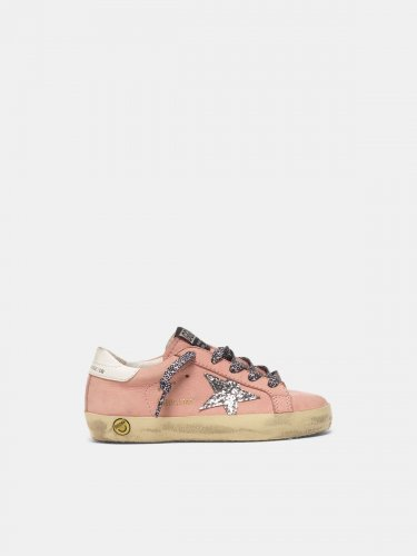 Super-Star sneakers in nubuck with glitter star