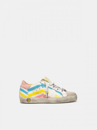 Super-Star sneakers with multicolour flag print