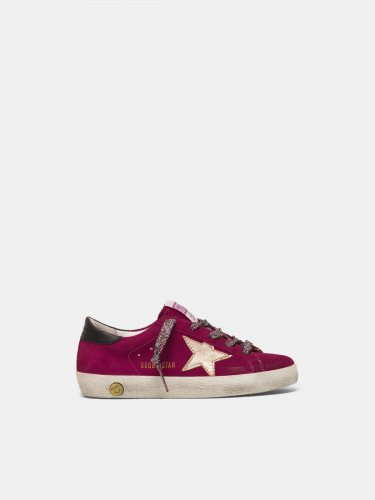 Super-Star sneakers in suede with laminated star