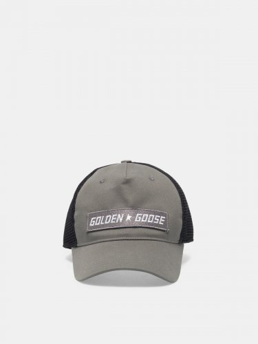 Golden baseball cap with logo patch