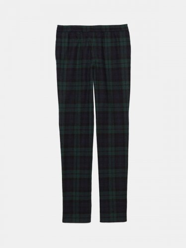 Ryuu trousers in tartan with elasticated waist