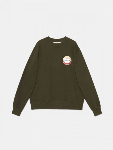 Hisao sweatshirt in pure cotton with print on the front