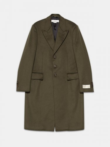 Yoshio coat in wool blend with classic lapels