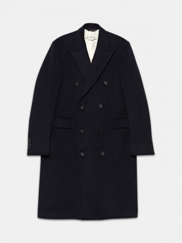 Yukio double-breasted coat in wool blend