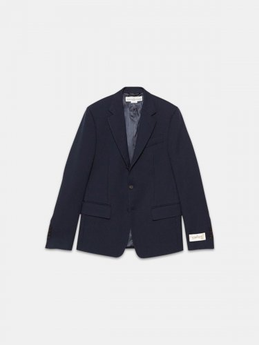 Venice single-breasted jacket in wool cr??pe