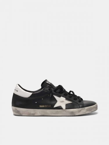 Super-Star sneakers in black leather with contrast star