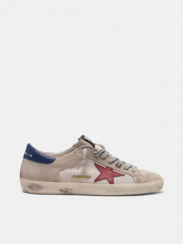 Super-Star sneakers in suede with mesh insert