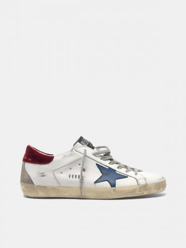 Super-Star sneakers with velvet heel tab and metal stud lettering
