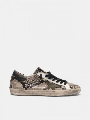 Super-Star sneakers in snakeskin print leather