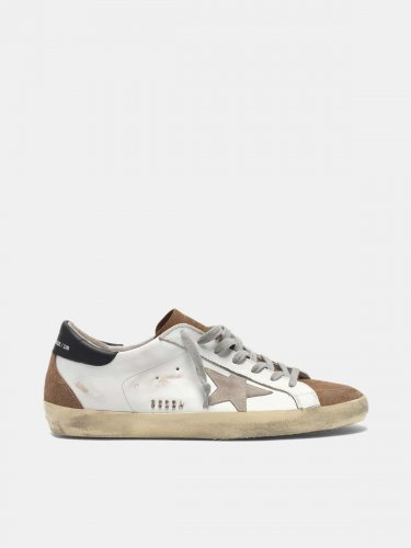 Super-Star sneakers in leather with suede insert