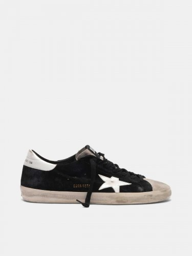 Super-Star sneakers in two colours of suede with contrast star