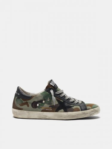 Super-Star sneakers with custom-made camouflage pattern