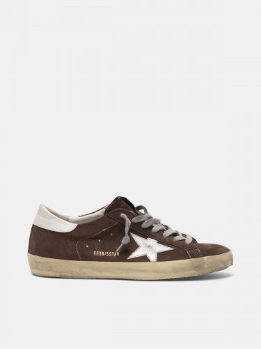 Super-Star sneakers in suede with silver star