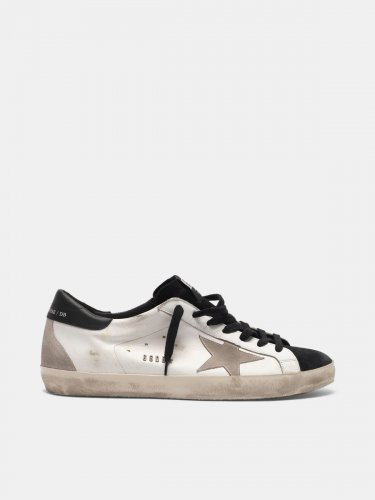 Super-Star sneakers in smooth leather and contrast suede