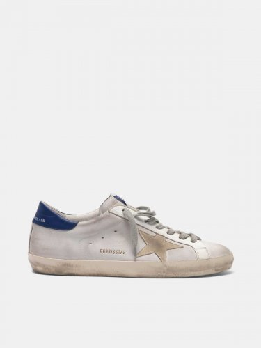 Super-Star sneakers in leather with star and heel tab in nubuck