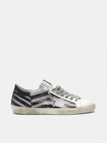 Super-Star sneakers with heat-sealed tape flag