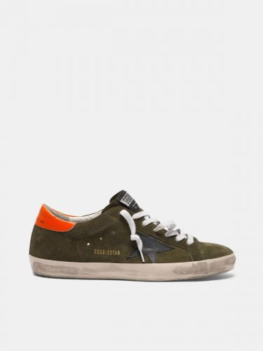 Super-Star sneakers in suede with orange heel tab