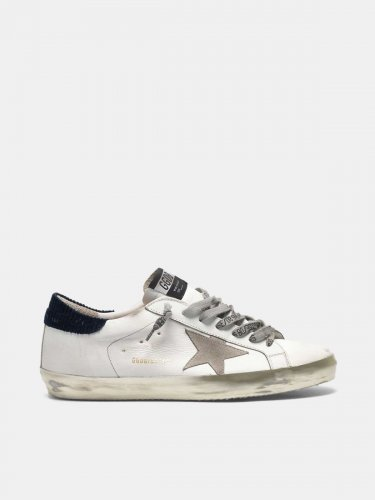 Super-Star sneakers with velvet heel tab and gold foxing