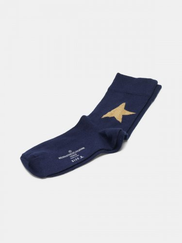Yui cotton socks with contrasting logo