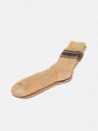 Tsutsuji socks made of brushed mohair wool
