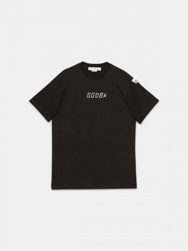 Black Golden T-shirt with logo print