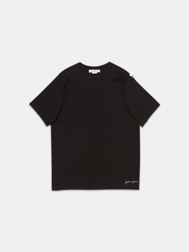 Black Hoshi T-shirt with maxi print with logo on the back