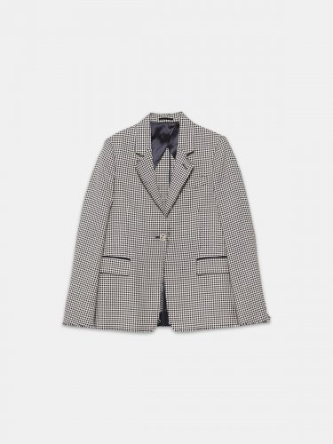 Single-breasted Golden jacket in gingham wool