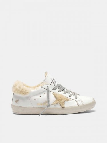 Super-Star sneakers with shearling inserts
