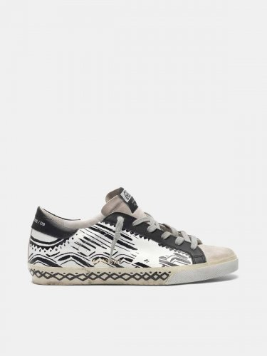 Super-Star sneakers with tattoo print