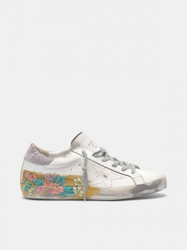 Super-Star sneakers with gold varnish and hand-painted details