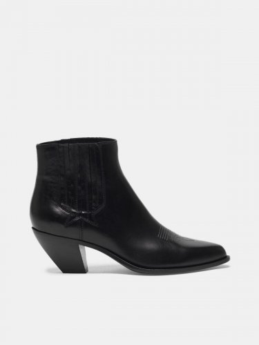 Sunset ankle boots in black leather