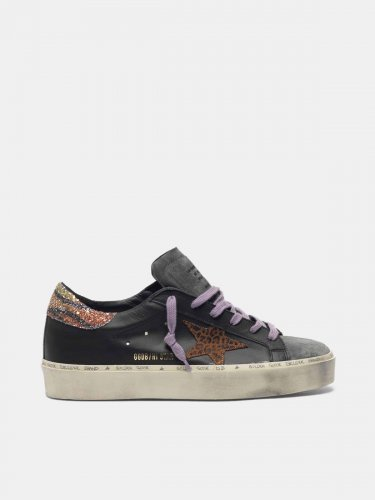 Hi Star sneakers with leopard-print star and glittery zebra-print heel tab