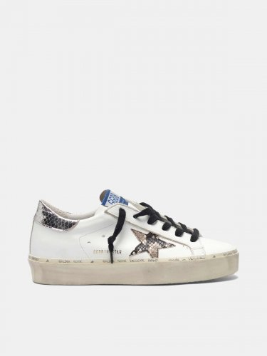 Hi Star sneakers with snake-print star and silver heel tab