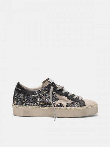 Hi Star sneakers in glitter and suede leather