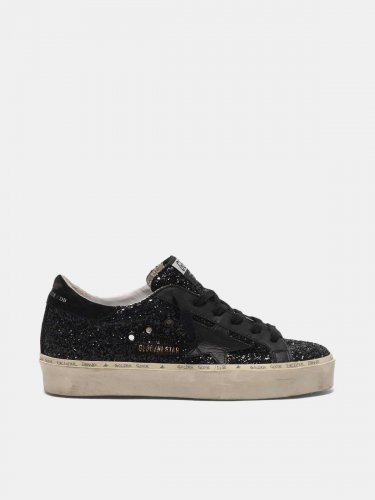 Hi Star sneakers black glitter upper