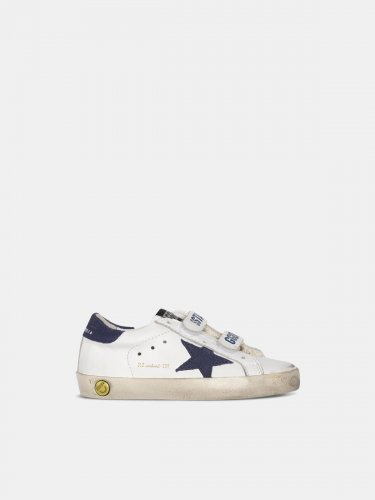 Old School sneakers with Velcro fastening and navy star