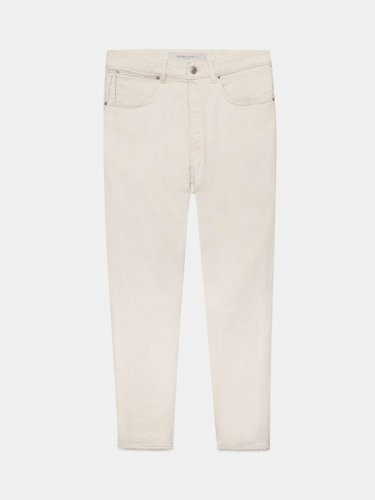 White UP jeans in cotton bull