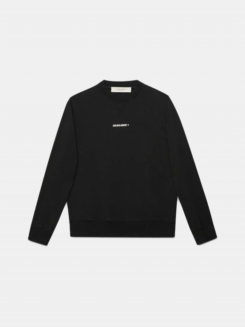 Black Golden sweatshirt with flag print on the back