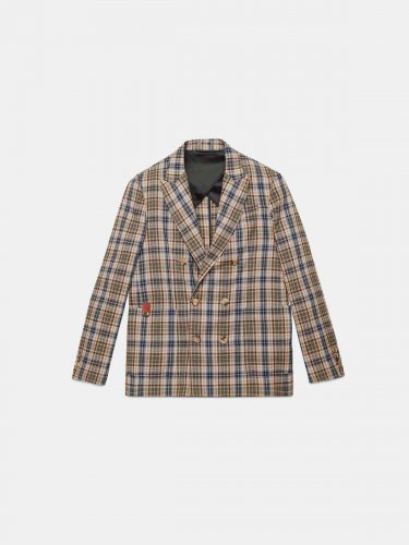 Double-breasted Joshua jacket in checked madras