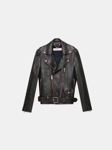 Black Ryan biker jacket with decorative studs