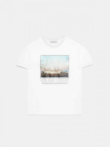 Parker T-shirt with motel photograph print