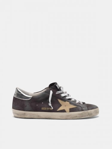 Grey Super-Star sneakers in suede with nude star