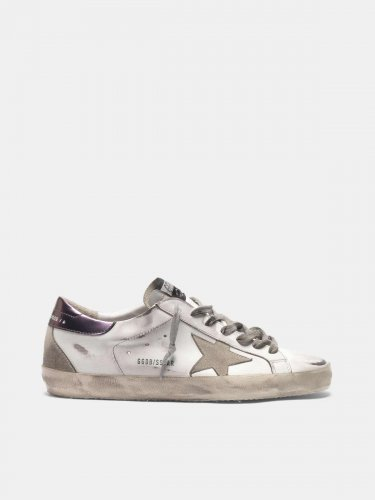 Super-Star sneakers with purple metallic heel tab