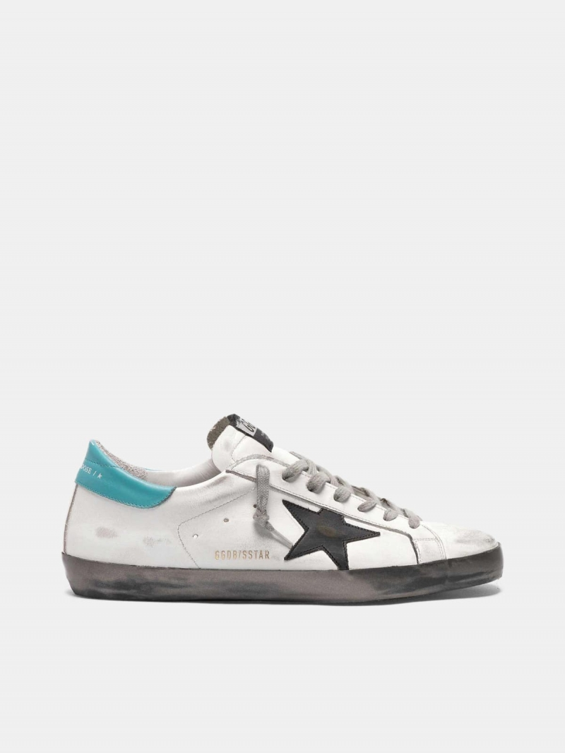 White Super-Star sneakers with silver foxing