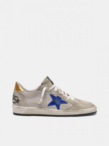 Grey suede Ball Star sneakers with mesh inserts