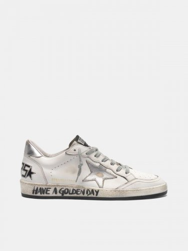White Ball Star sneakers with handwritten lettering