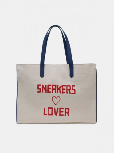 California East-West bag with red Sneakers Lover print